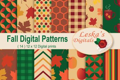 Fall Digital Patterns