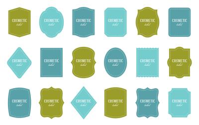 Labels: 18 shapes, different colors