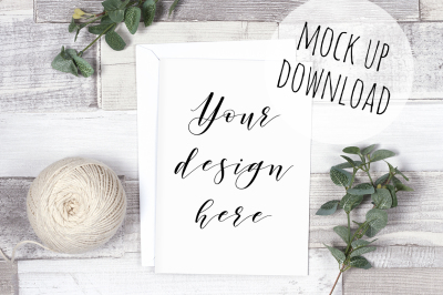 Rustic Card/Invitation Mockup