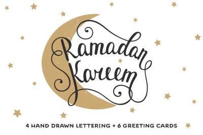 Ramadan Kareem lettering & cards