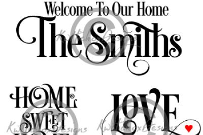 Sign Svg Bundle, Welcome Svg, Eps, Dxf