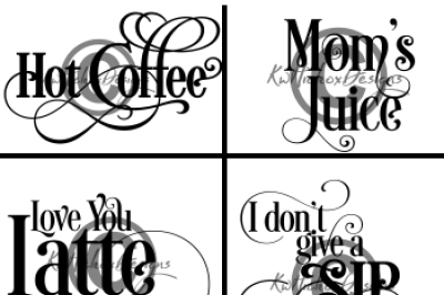 Coffee Cup Design Bundle Svg, Eps, Dxf Files