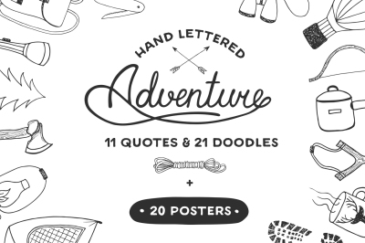 Adventure quotes and doodles