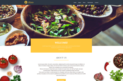 Risto Theme, Restaurant one Page Website