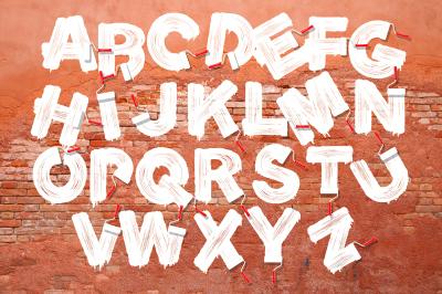 Roller brush letters