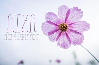 Aiza Shine Serif Regular Font