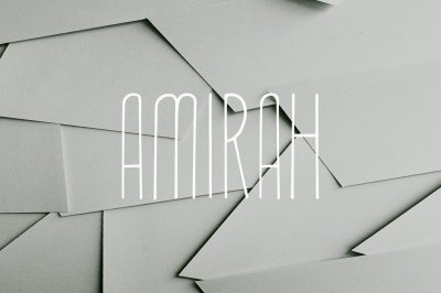 Amirah Display Font