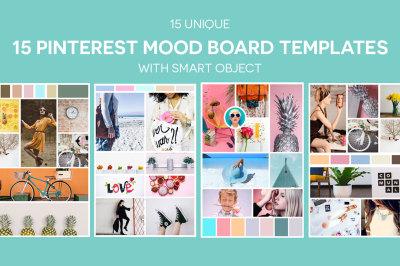 15 Pinterest Mood Board Templates Ver. 2