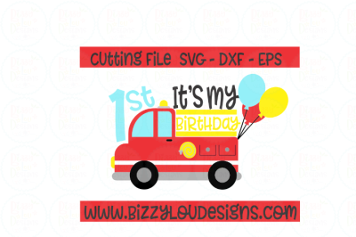 Firetruck SVG EPS DXF - cutting file