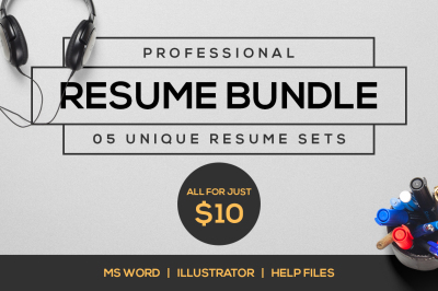 Professional resume bundle v1