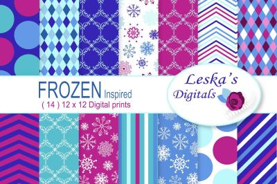 Frozen Inspired Digital Paper