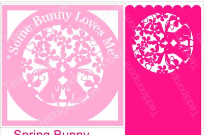 SPRING BUNNY FRAME & CARD SVG
