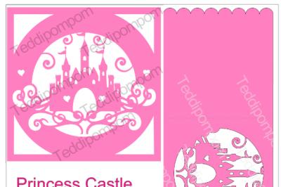 PRINCESS CASTLE FRAME AND CARD SET