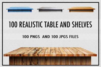 100 Realistic Table & Shelves