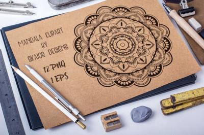 Mandala Clipart Vector