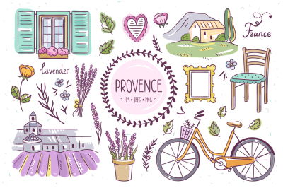 Provence Hand Drawn Illustrations