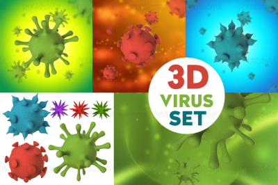 3D Virus Set