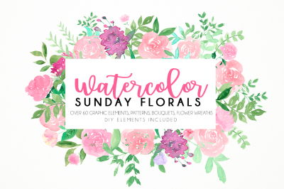 Watercolor Sunday florals