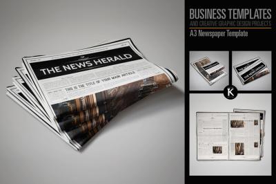 A3 Newspaper Template