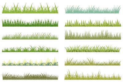 Textured green grass clipart, Spring Easter grass clip art, border, divider