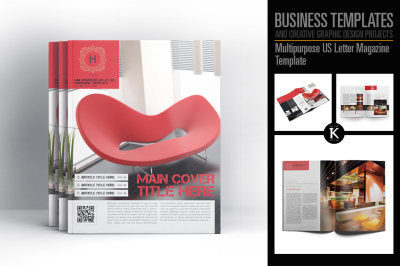Multipurpose US Letter Magazine Template