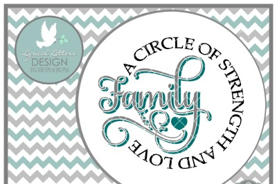 Family A Circle of Strength and Love LL200 B  Cut-File in SVG DXF EPS AI JPG PNG