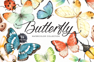 Butterfly Watercolor Collection