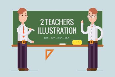 2 teachers illustration