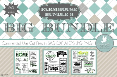 Farmhouse Style 3 Big Bundle LL195 Cut-File in SVG DXF EPS AI JPG PNG