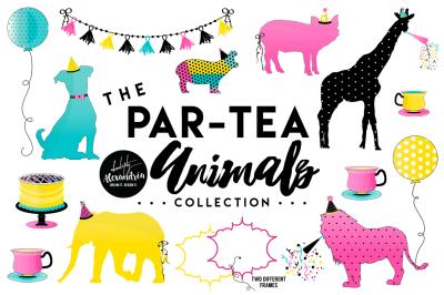 Par-Tea Animals Graphics/Patterns Bundle