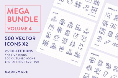 Line Icons – Mega Bundle Vol 4