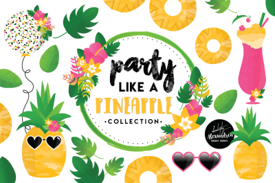 Party Like a Pineapple Graphics & Patterns Bundle