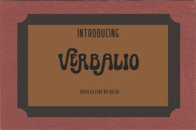 Verbalio Font