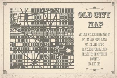 Vintage vector old map