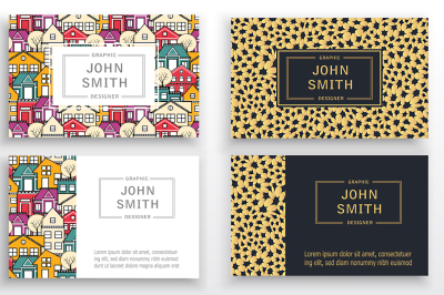 Set of business cards vector templates