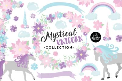 Mystical Unicorn Graphics & Patterns Bundle