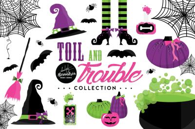 Toil & Trouble Graphics & Patterns Bundle
