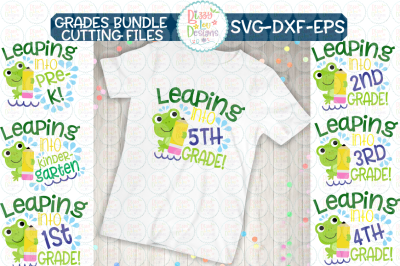Leaping Grades Bundle - SVG - DXF - EPS - Cutting file