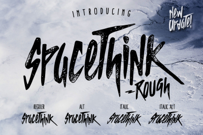 SPACETHINK Typeface - NEW UPDATE!