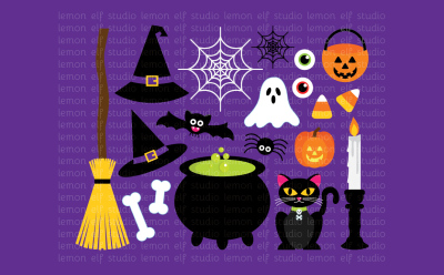 Happy Halloween-Digital Clipart (LES.CL47)