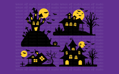 Spooky House-Digital Clipart (LES.CL48)