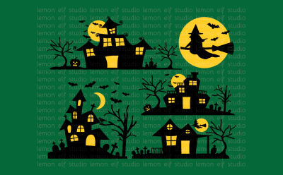Ghost House-Digital Clipart (LES.CL49)