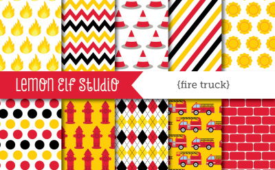 Fire Truck-Digital Paper (LES.DP50)