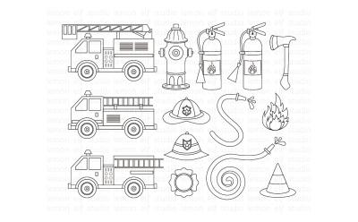 Fire Truck-Digital Stamp (LES.DS50)