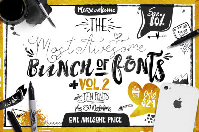 Big bunch of Fonts Vol 2
