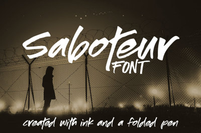 Saboteur: a moody, inky font