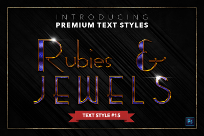 Rubies & Jewels #3 - 20 Text Styles