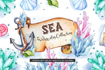 Sea Watercolor Collection
