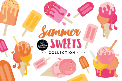 Summer Sweets Graphics & Patterns Bundle