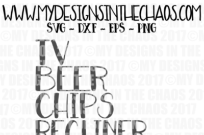 TV Beer Chips Recliner #mangoals SVG file, Cut file for Silhouette and Cricut